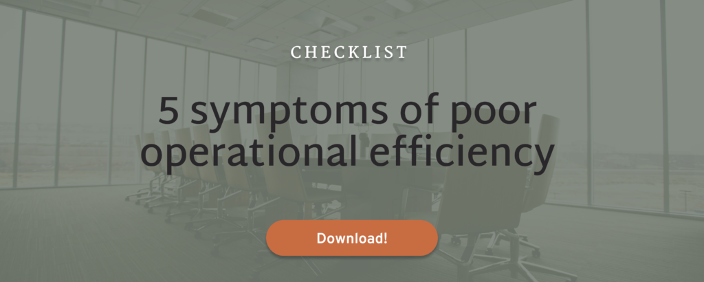 5 symptoms of poor operational performance